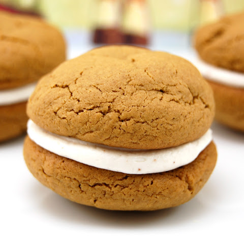 Gingerbread Whoopie Pies with Eggnog Filling