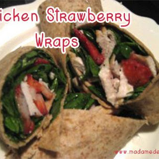 Chicken Strawberry Wraps