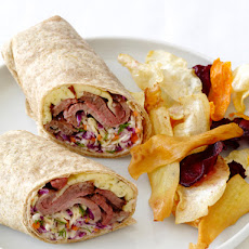 Roast Beef Wraps With Dill Slaw