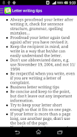 Screenshot of English Letter Writing Free