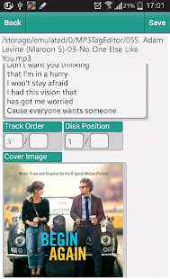 Just MP3 TAG EDITOR - screenshot