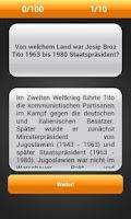 Screenshot of Quiz - Politik und Geschichte