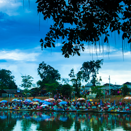 Floating Market I by Zain Zulkarnain - Landscapes Travel ( nature, serene, green, thailand, landscape, breathtaking, people, business )
