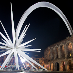 Falling Star by Giancarlo Ferraro - Buildings & Architecture Statues & Monuments ( holiday, christmas, star, night, light )