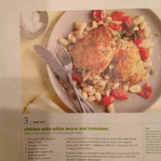 Chicken with white beans and tomatoes