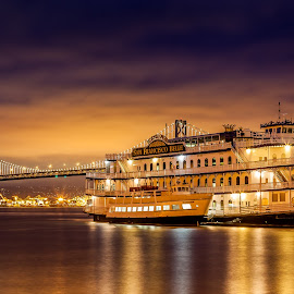 San Francisco Belle by Julio Gonzalez - Buildings & Architecture Public & Historical ( san francisco belle, sunset, baybridge, san francisco, pier 7 )