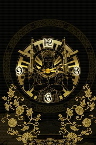 Senju Kannon clockWidget