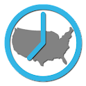 US Timezones clock icon