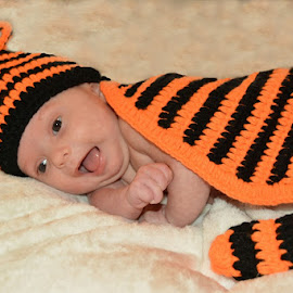 Roar!  by Sherry Judd - Babies & Children Babies ( girl, tiger, outfit, baby, portrait )