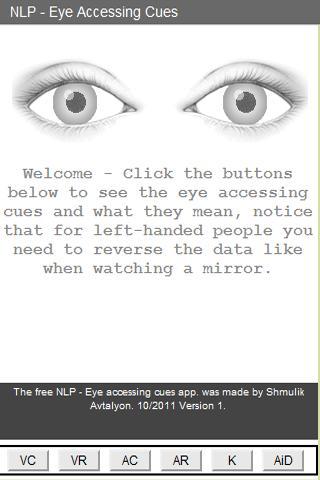 Eye Accessing Cues - NLP Tool