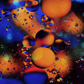 Caramel Way by Carole Pallier Cazzazsnapz - Abstract Patterns ( colour, water, abstract, orange, circles, macro, patterns, blue, lollies, oil )