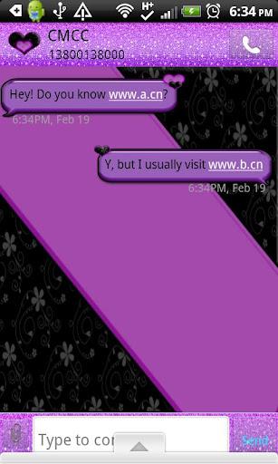 GO SMS THEME BlkPurple