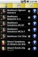 Screenshot of Top Classical Ringtones