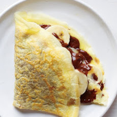 Chocolate-Hazelnut and Banana Crepe
