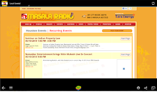 Screenshot of Masala Radio Houston