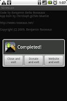 Screenshot of SDrescan