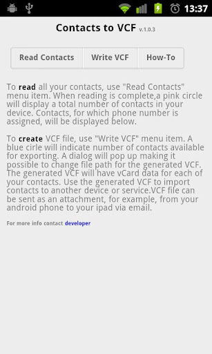 Contacts2VCF
