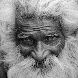 Old and wise by Rakesh Syal - People Portraits of Men