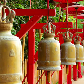 Prayer bells by Nalin Agarwal - Artistic Objects Other Objects ( temple, prayer, thailand, bells, wat )