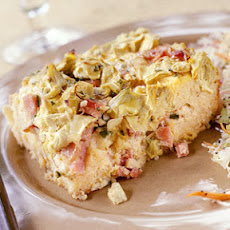 Overnight Artichoke-and-Ham Strata