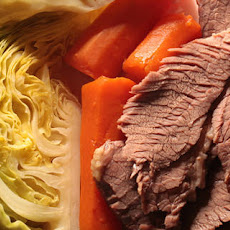 Corned Beef and Cabbage with Horseradish Cream Sauce