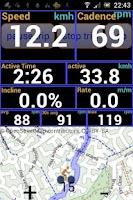 Screenshot of IpBike ANT+™ Bike Computer