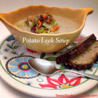 Potato Leek Soup with Peppered Bacon
