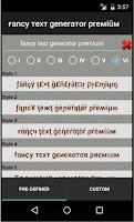 Screenshot of Fancy Text Generator Premium
