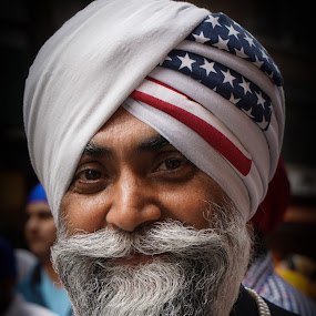 American Sikh by VAM Photography - People Portraits of Men ( parade, sikh, cities, turban, nyc, man,  )