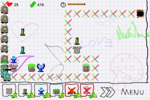 Screenshot of Doodle Defense Lite