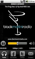 Screenshot of BlackMartini Radio