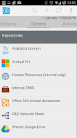 Screenshot of AirWatch Content Locker