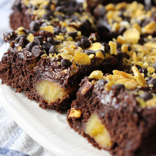 Chocolate-Topped Paleo Plantain Brownies.