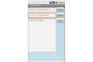 Screenshot of cc messaging / cc sms