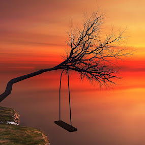 Tree Swing View [3D] by Jamie Keith - Illustration Places