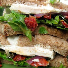 Grilled Chicken Sandwiches with Sun-Dried Tomatoes and Goat Cheese