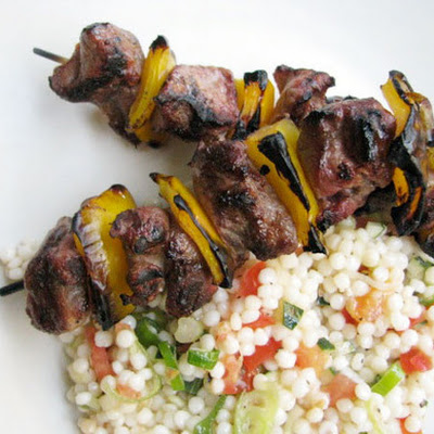 Lamb Kebabs with Israeli Couscous