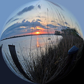 Lower Pearl Sunset by Wendy  Walters - Digital Art Places
