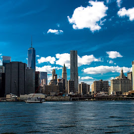 Newyork City Skyline by Desai Photography - City,  Street & Park  Skylines ( brooklyn bridge, skyline, newyork skyline, newyork, newyork city skyline )