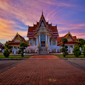 The Temple by Charliemagne Unggay - Buildings & Architecture Places of Worship ( temple, building, sunset, place of worship, architecture )
