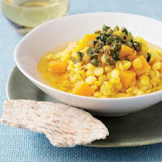 Split Pea-Squash Stew with Basil and Serrano