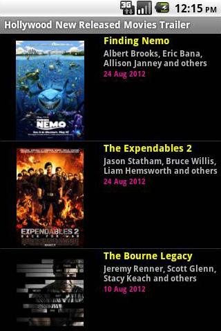 Hollywood New Released Movies
