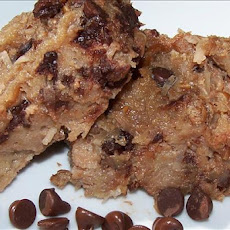 Chocolate Chip and Coconut Bread Pudding