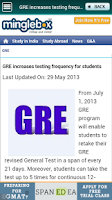 Screenshot of GRE Prep