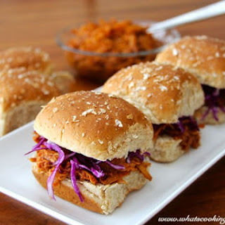Pulled Ginger-Chicken Slider with Cilantro Slaw...