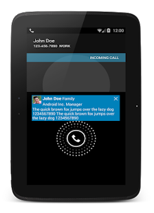 CallPlus (Contact, SMS pop-up) - screenshot