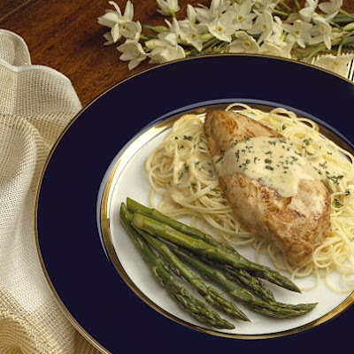 Dressed Chicken with Angel Hair Pasta