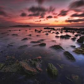 Staffin dawn by Ian Pinn - Landscapes Waterscapes ( scotland, skye, dawn, staffin, tide, sea, rocks )