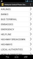 Screenshot of Malaysia Phone Directory