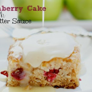 Apple Cranberry Cake w/ Nutmeg Butter Sauce {12 Days of Sugar – Day 9}